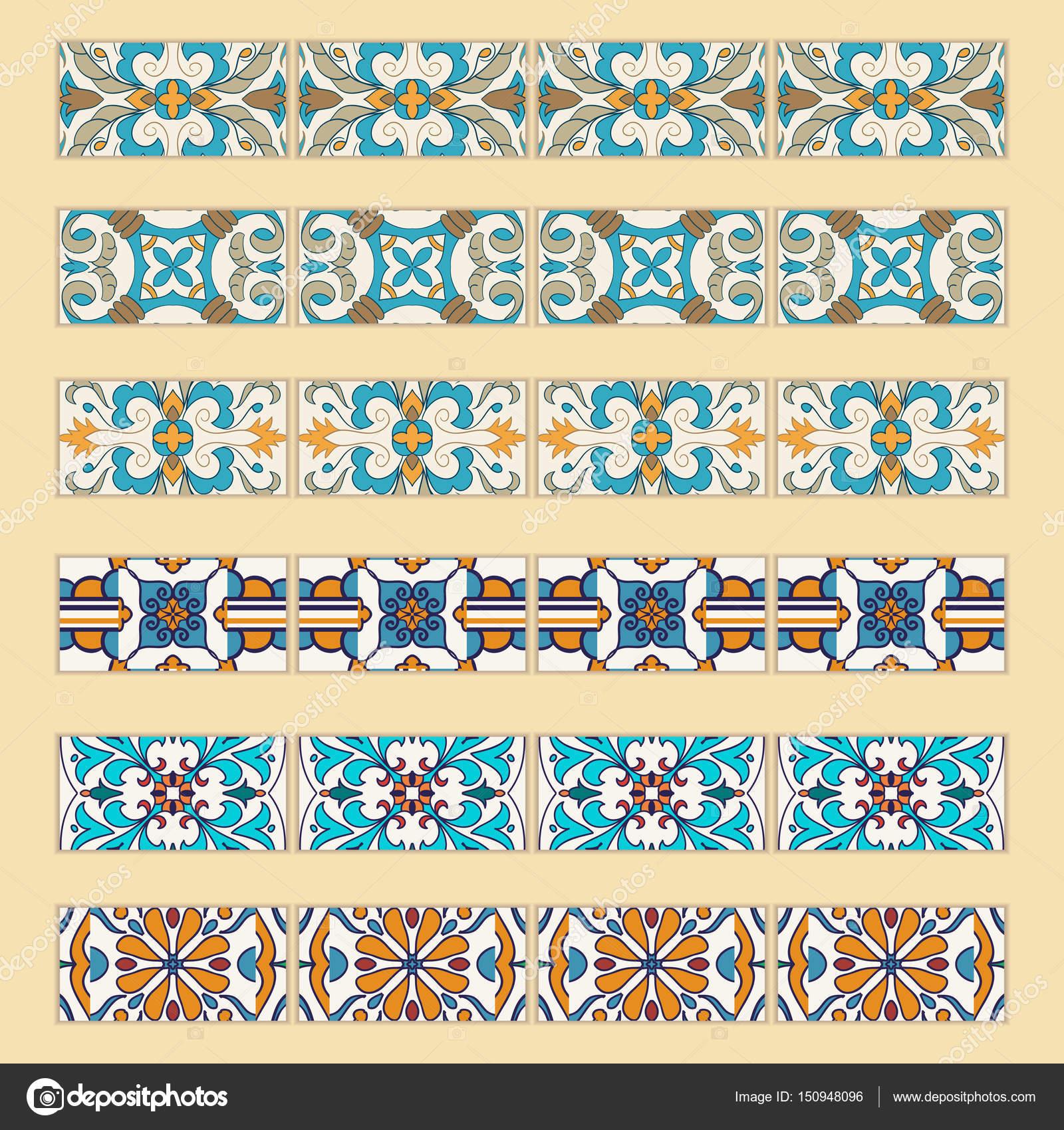 Vector set of decorative tile borders. — Stock Vector © Yulia ...