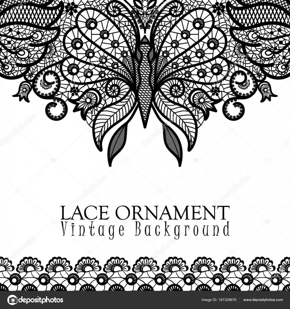 Grafico mariposa crochet | Fondo decorativo de vectores con diseño ...
