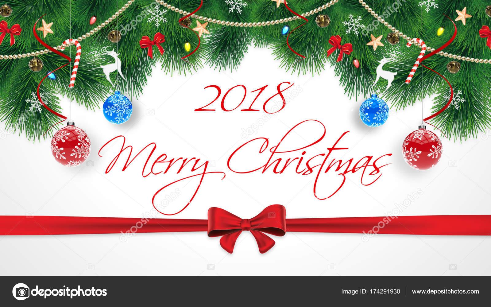 Buon Natale Originale.Merry Christmas 2018 Scheda Di Congratulazioni Buon Natale