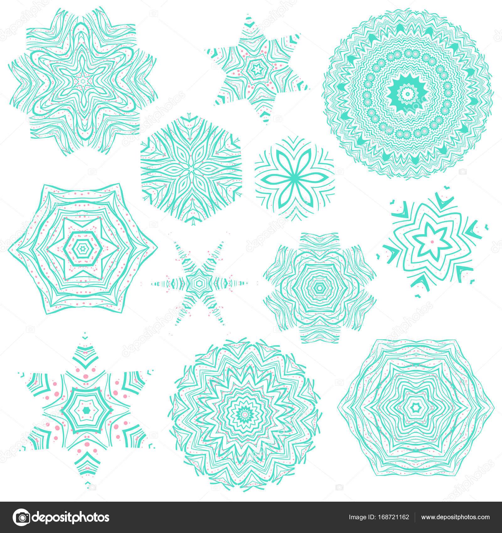 Serie De Tatouages Abstraits Mandala Image Vectorielle Daina