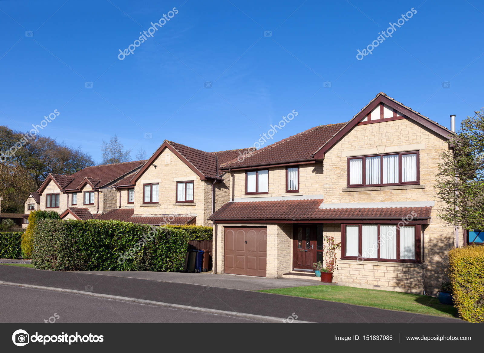 Row Of Traditional English Houses Stock Photo