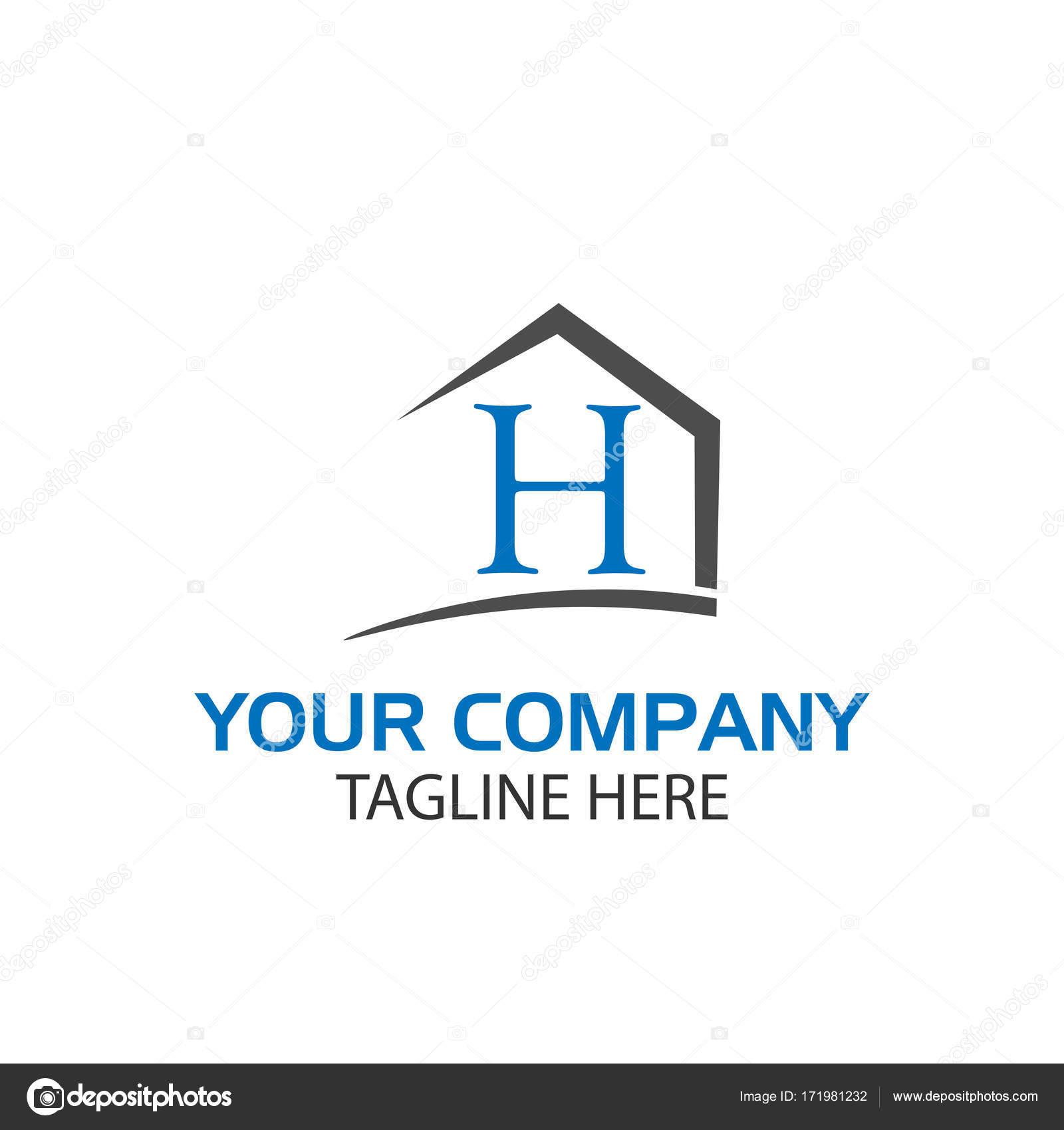 Combina la casa y la letra H, casas Resumen — Vector de stock ...