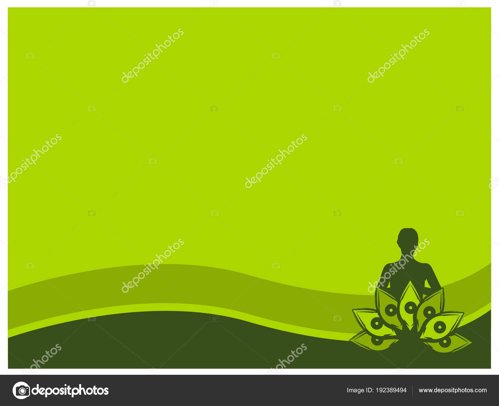 Green Background Yoga Natural Background Stock Vector C Sarya 192389494