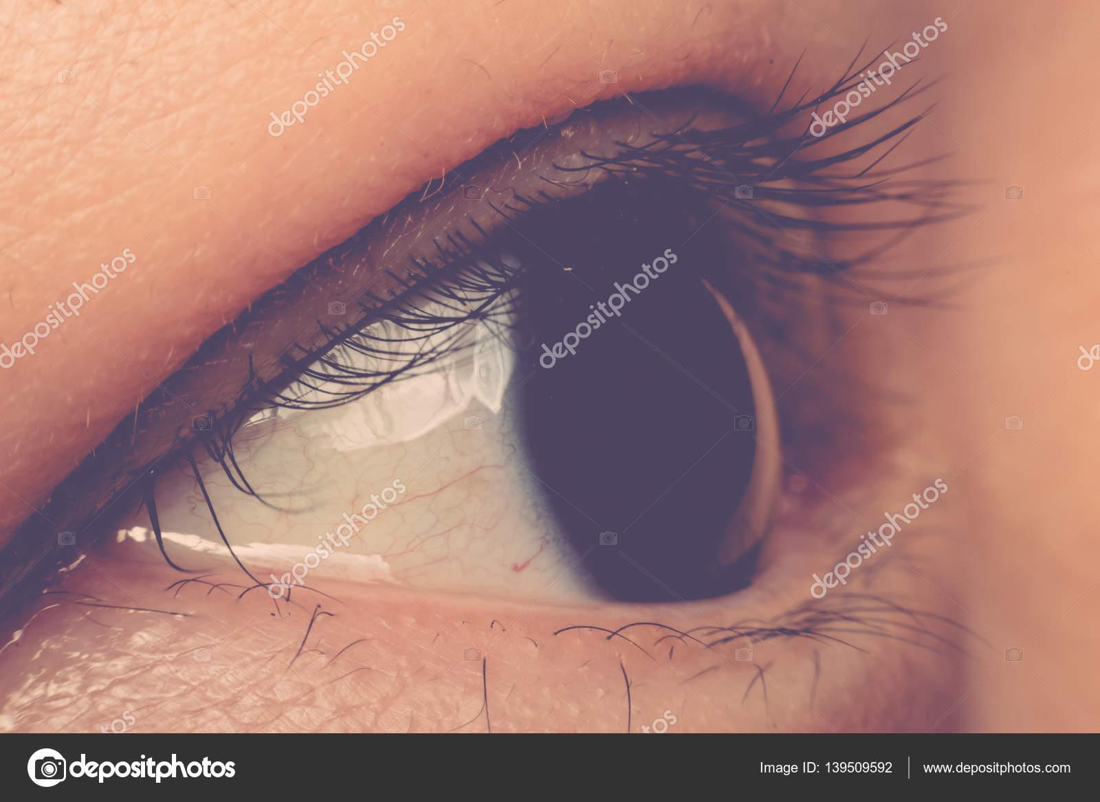 Makro Der Augenfarbe Schwarz Stockfoto C Pongmoji 139509592