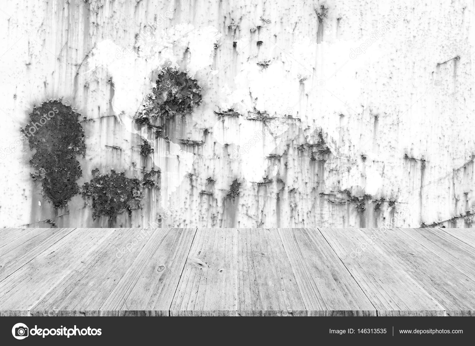 Metal rust wall texture surface with wood terrace and world map metal rust wall texture surface with wood terrace and world map stock photo gumiabroncs Gallery