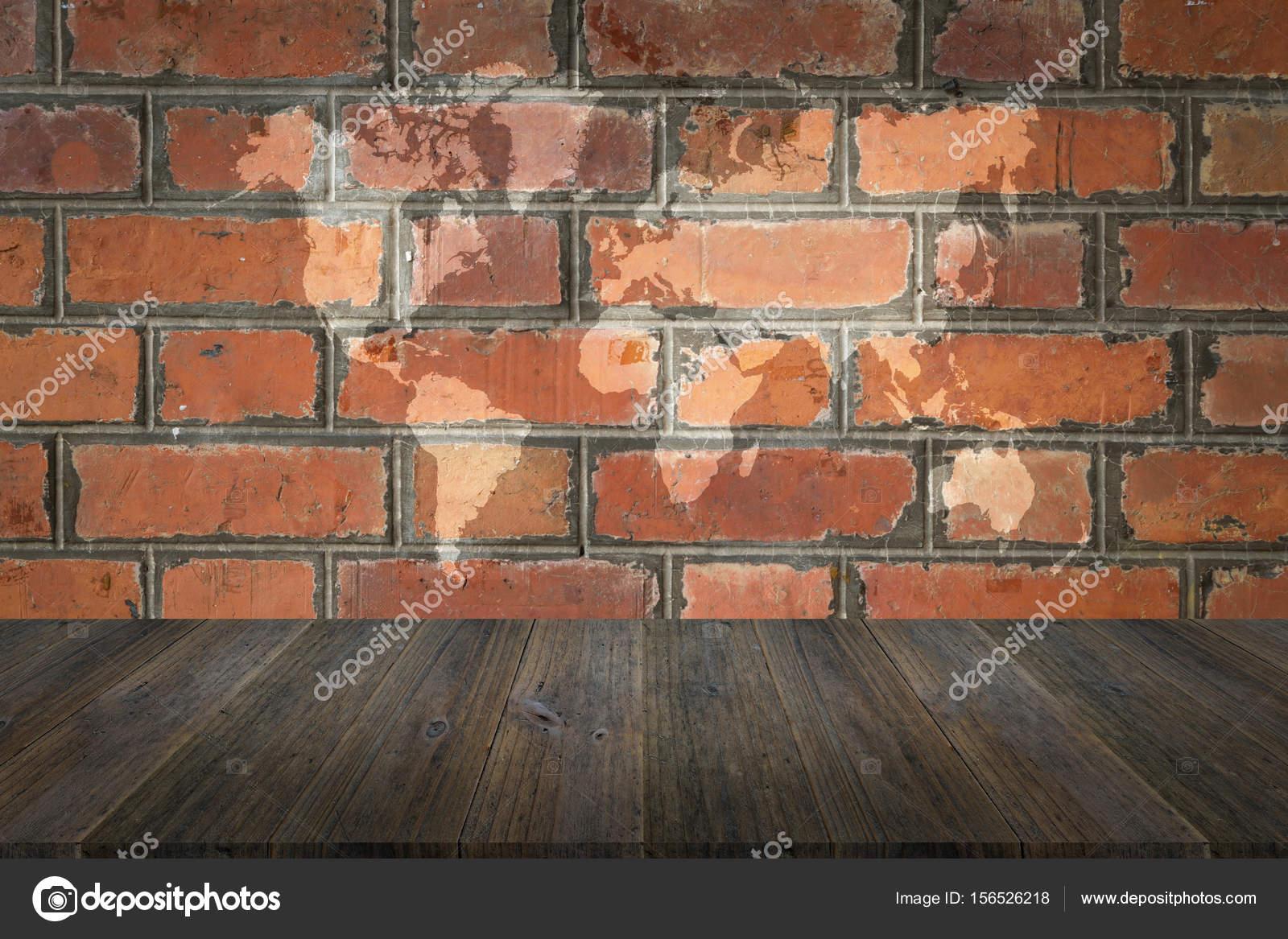 Superficie De Textura De Pared De Ladrillo Rojo Con Terraza