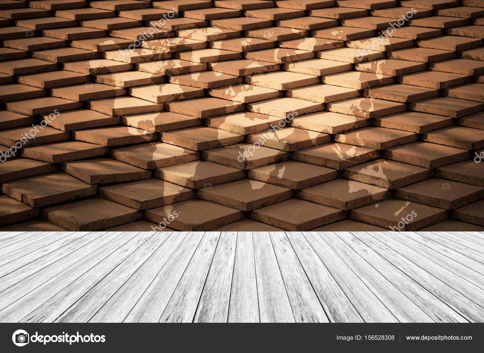 Stile vintage superficie di struttura di tetto di mattonelle con
