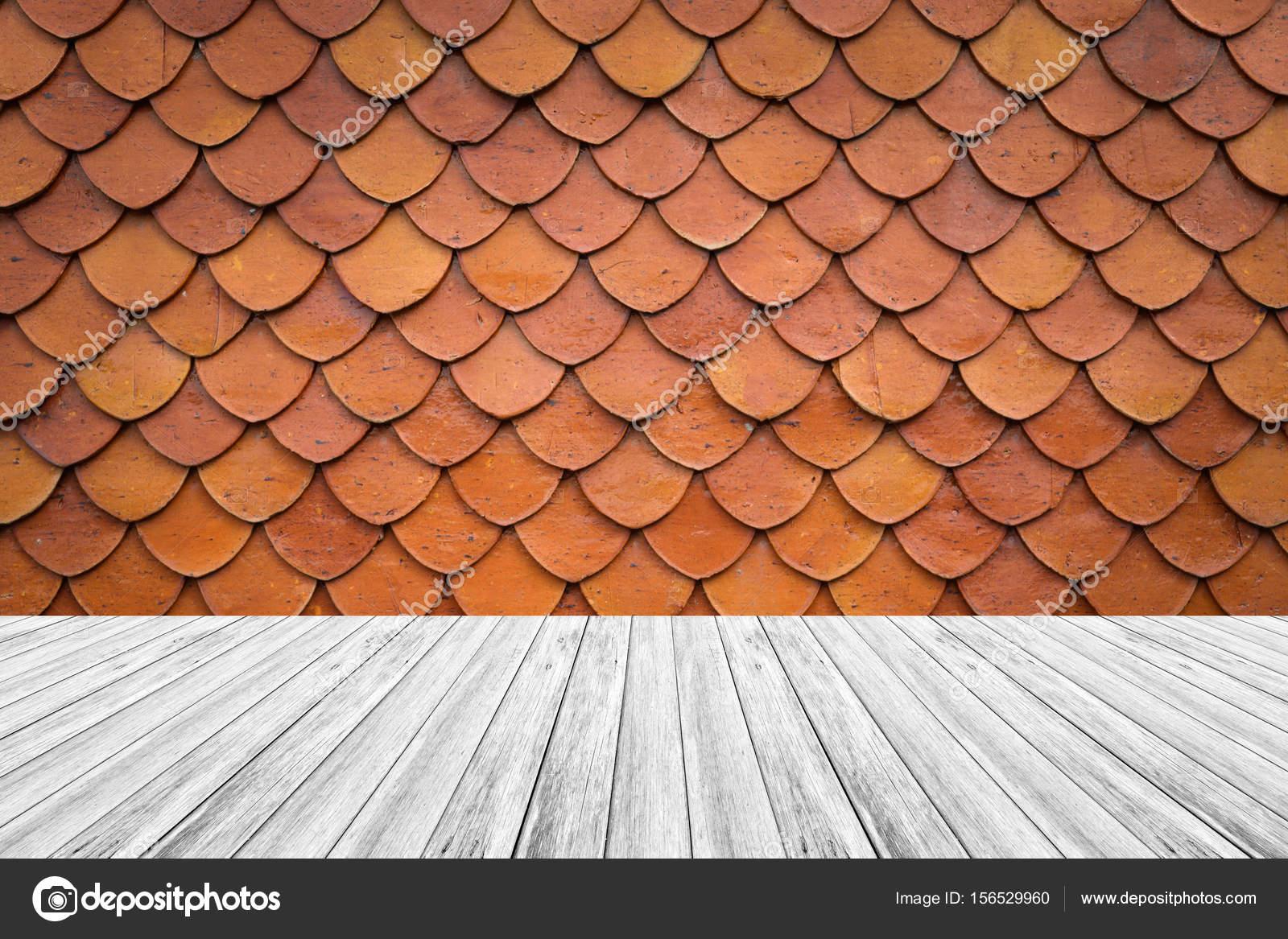 Terraza De Madera Y Azulejo De Azotea De Textura Foto De