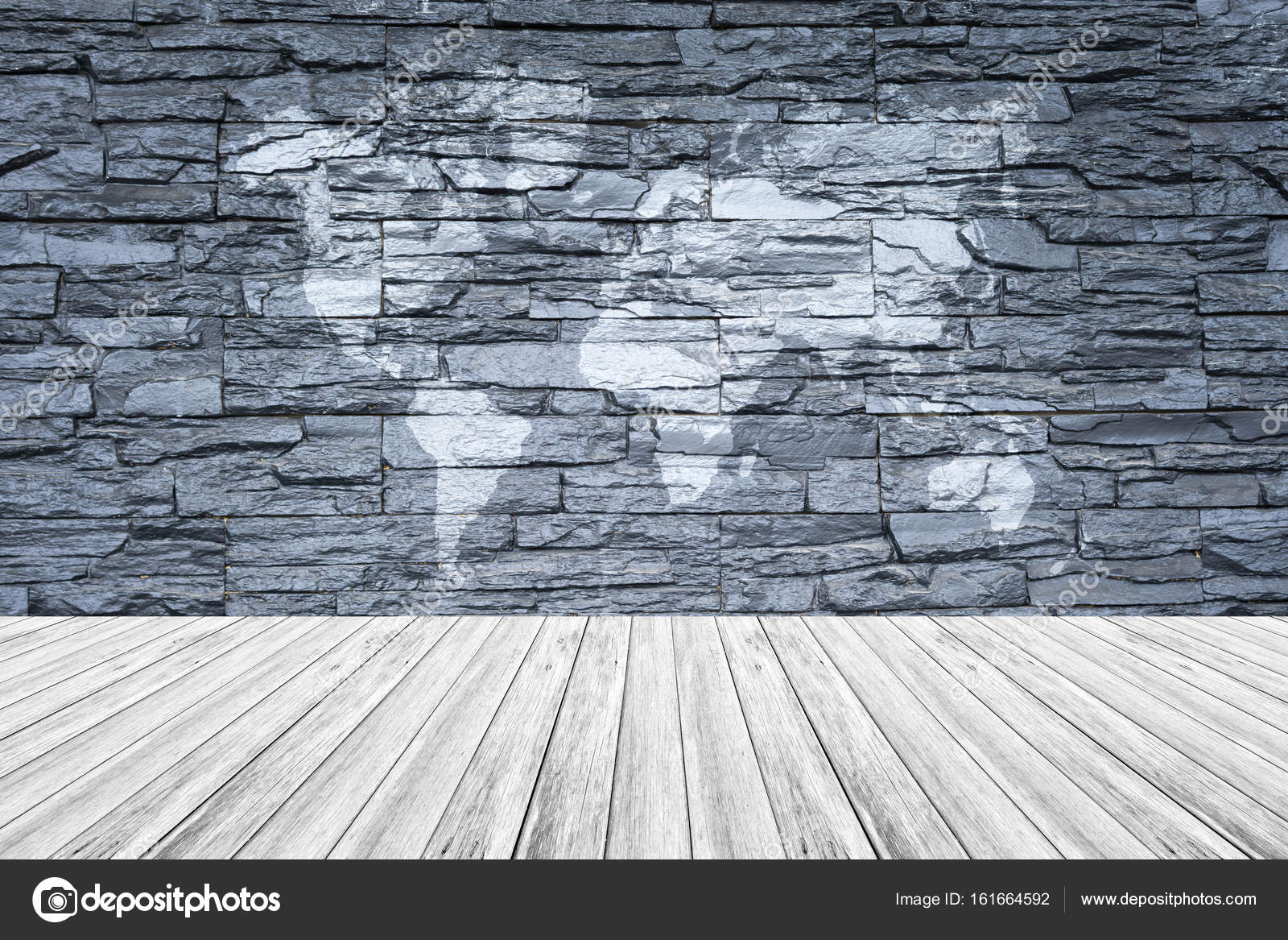 Stone wall texture with white wood terrace and world map stock stone wall texture background surface natural color with white wood terrace and world map photo by pongmoji gumiabroncs Gallery