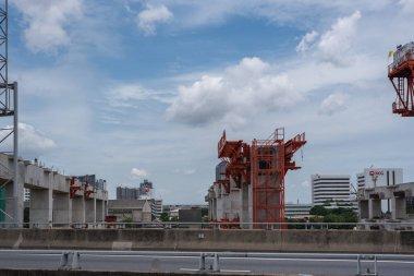 Construction site of sky train Bangsue-Rangsit