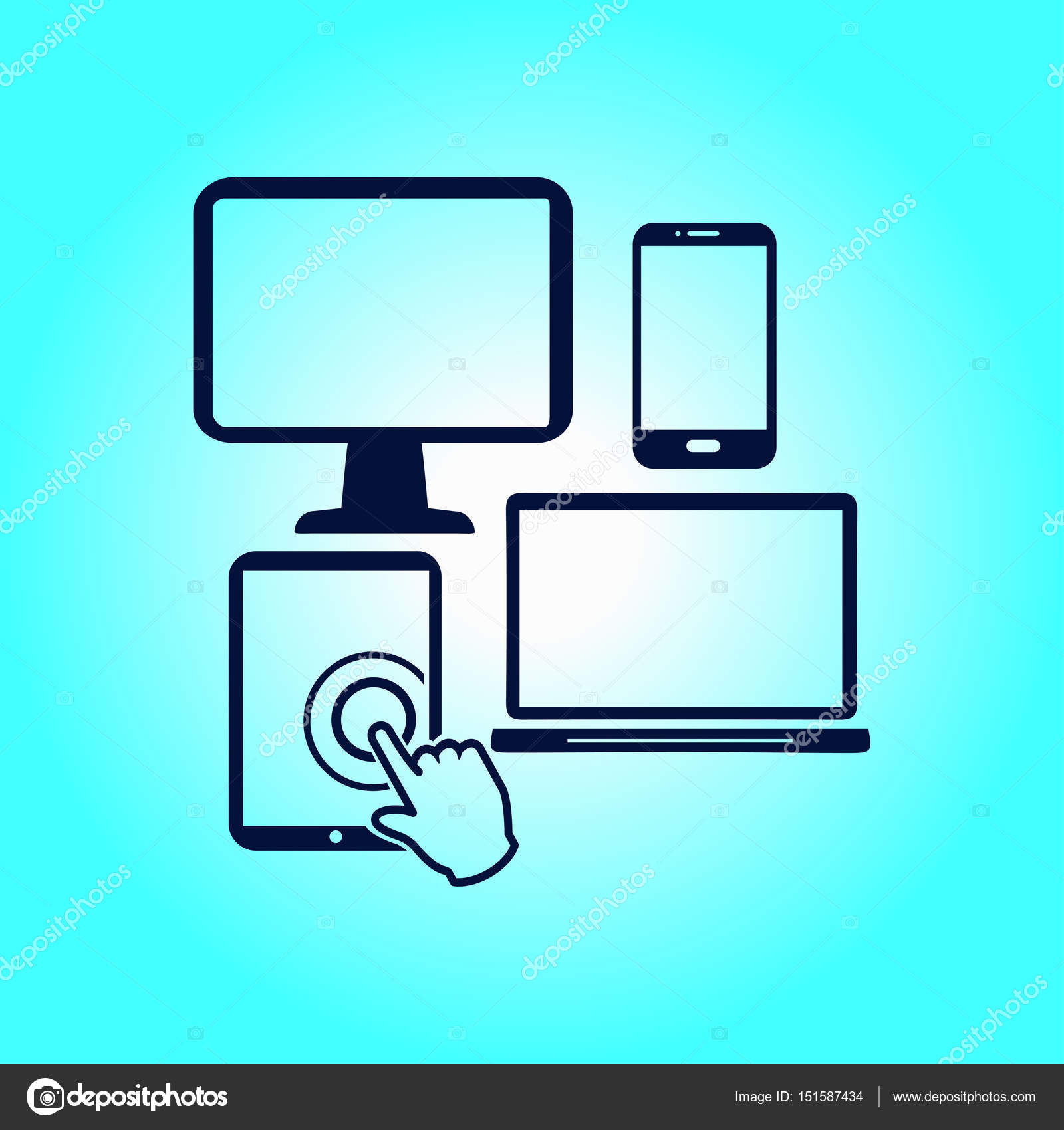 Elektronische Geräte-symbol — Stockvektor © arhimicrostok #151587434