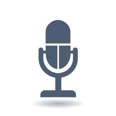Microphone sign symbol.