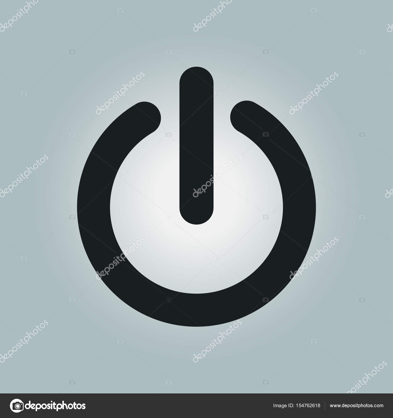 Power-Zeichen-symbol — Stockvektor © arhimicrostok #154762618