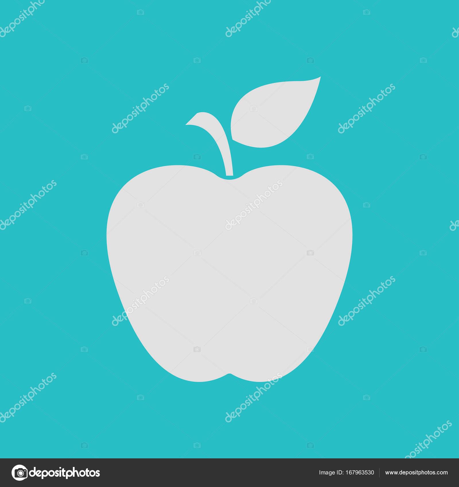 Leaf Apple Symbol Stock Vector Arhimicrostok 167963530