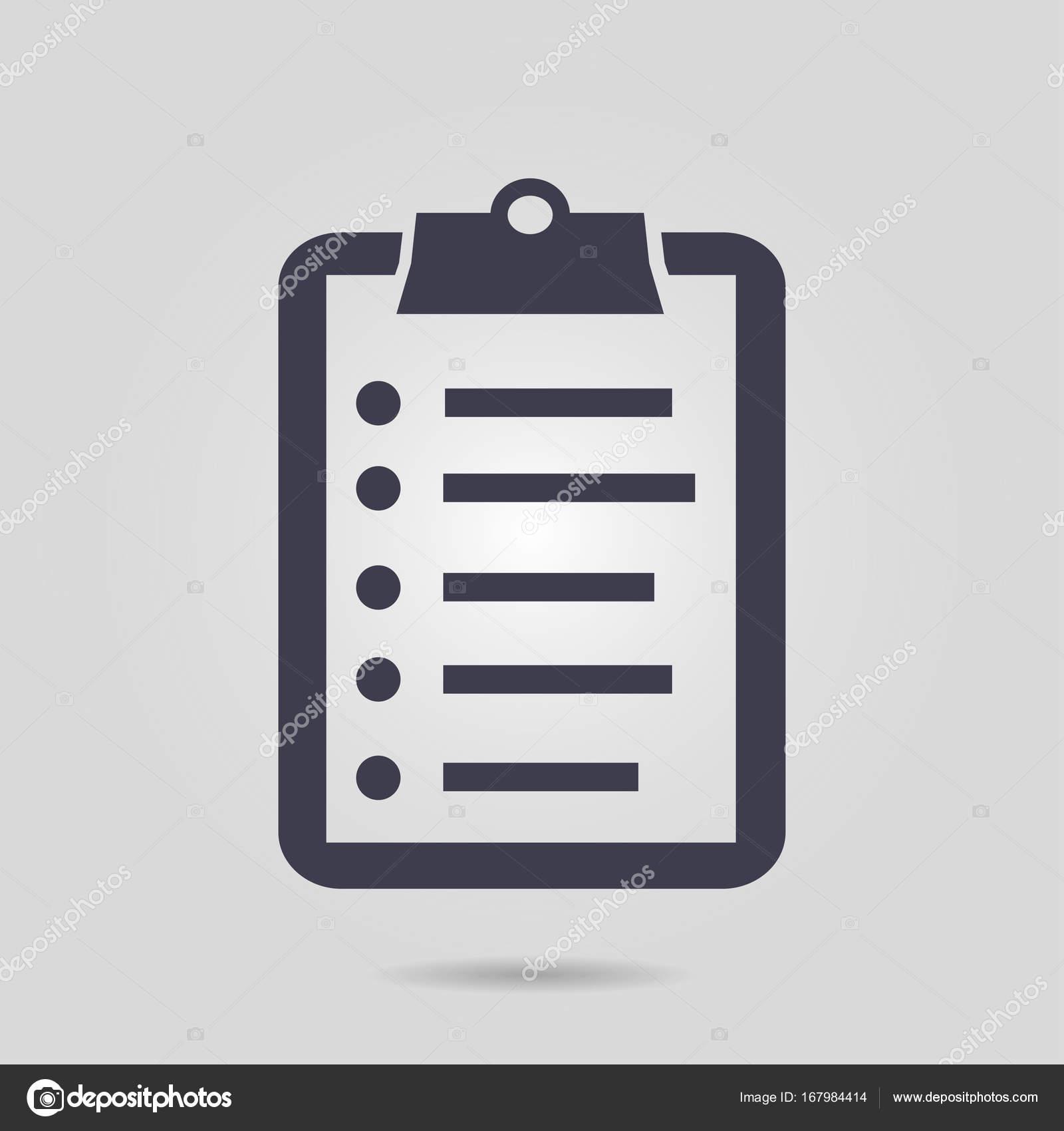 símbolo de la lista de verificación — Vector de stock ...