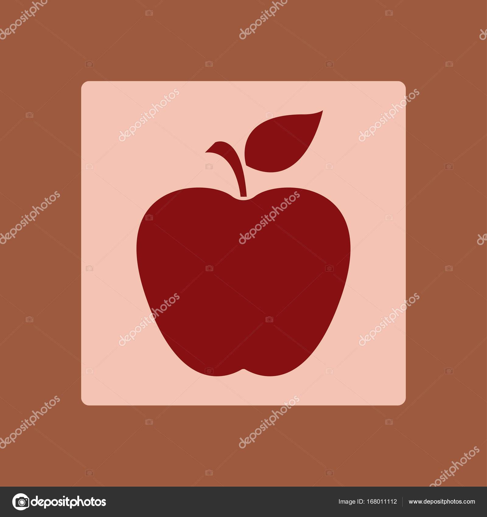 Leaf Apple Symbol Stock Vector Arhimicrostok 168011112