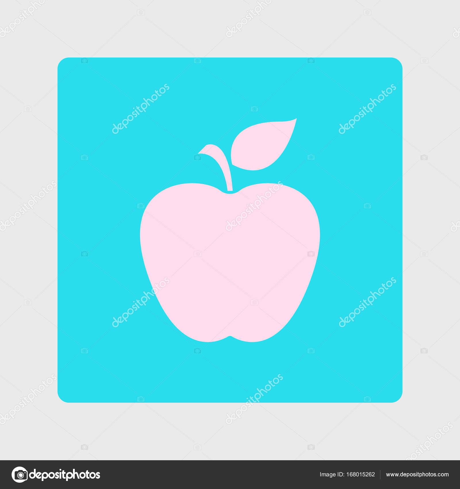 Leaf Apple Symbol Stock Vector Arhimicrostok 168015262