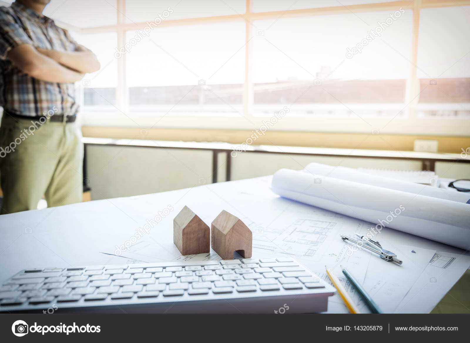 Liebenswert Büro Ideen Beste Wahl Büro Schreibtisch Hintergrund Bau Projekt Architekturkonzept Mit
