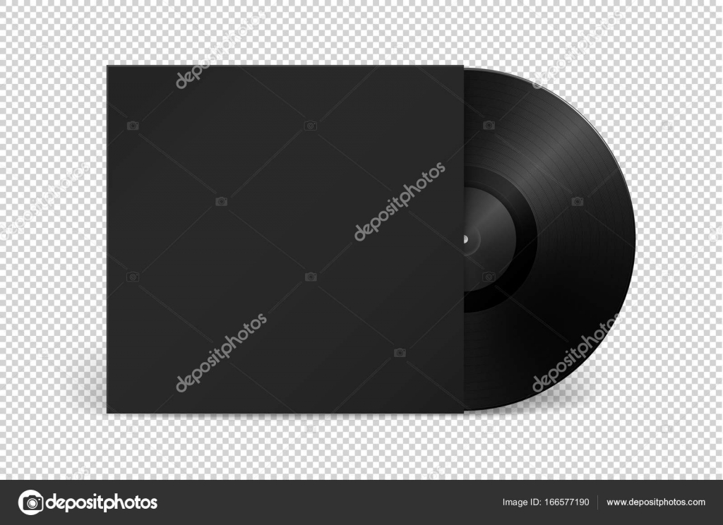 Realistic empty music gramophone vinyl lp record with cover icon realistic empty music gramophone vinyl lp record with cover icon closeup isolated on transparent background design template of retro long play for maxwellsz