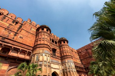 Historical Agra Fort of the Mughal dynasty emperors, UNESCO World Heritage site in Agra, Uttar Pradesh, India