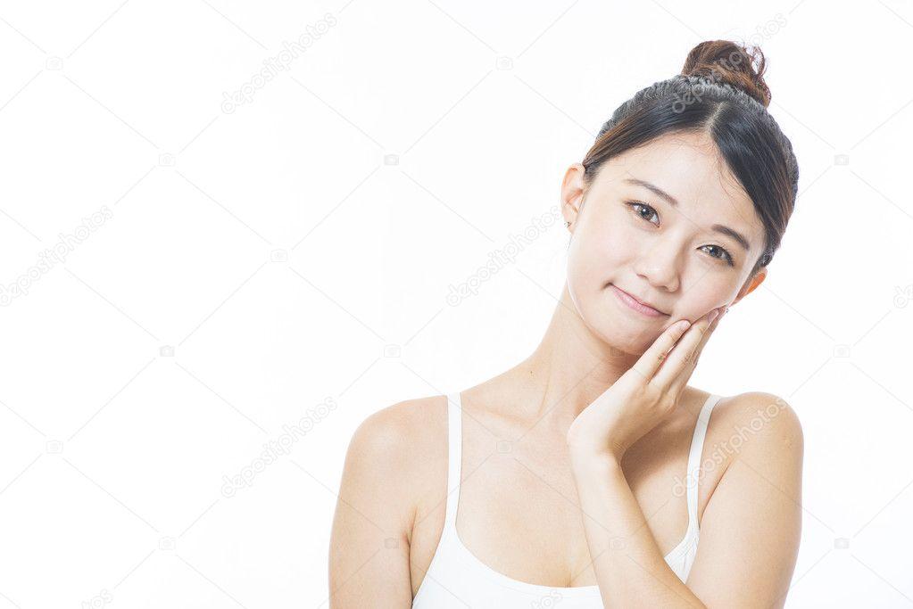 perfekte asiatische Frau