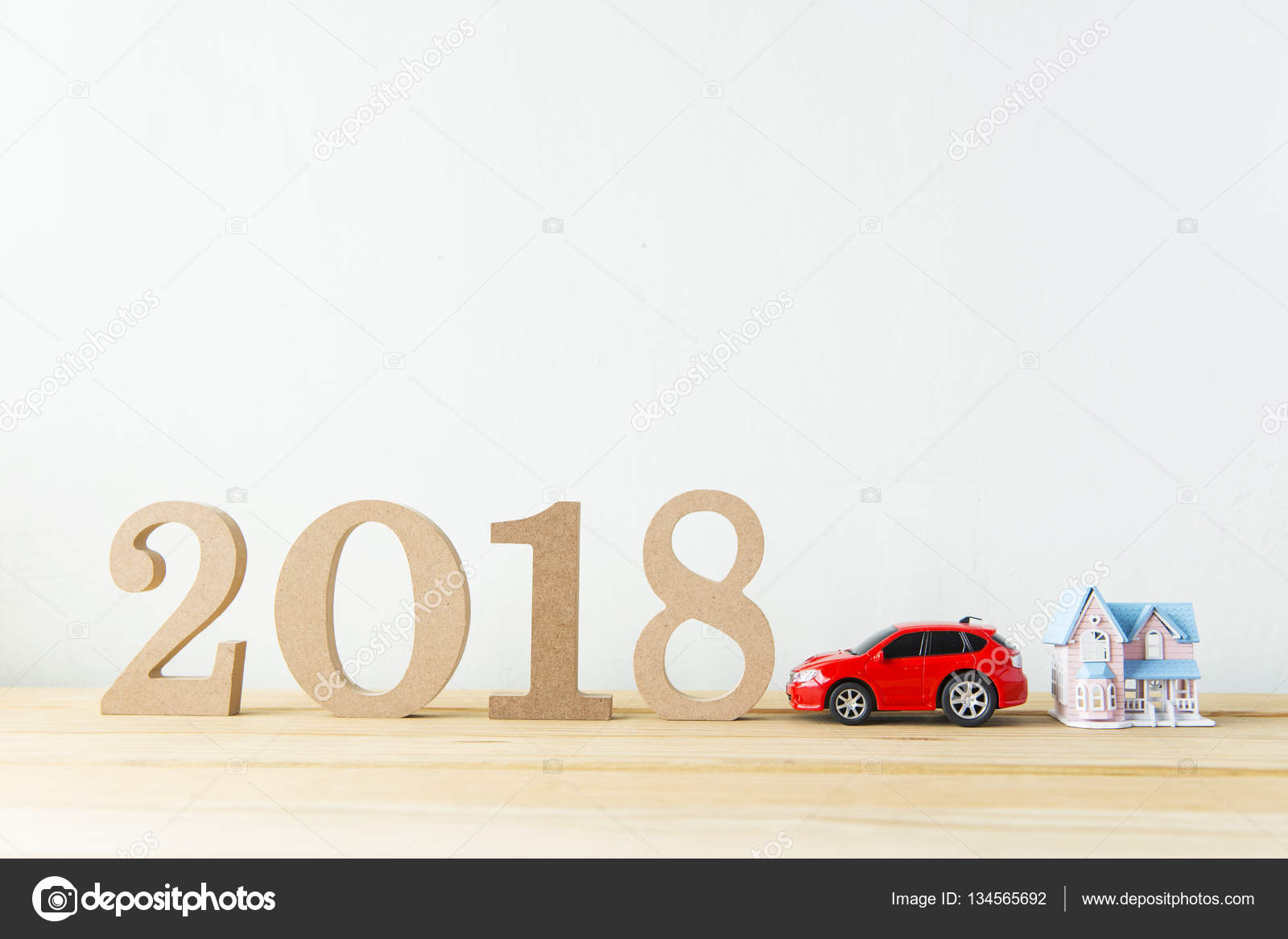 happy new year 2018 on a white background stock photo