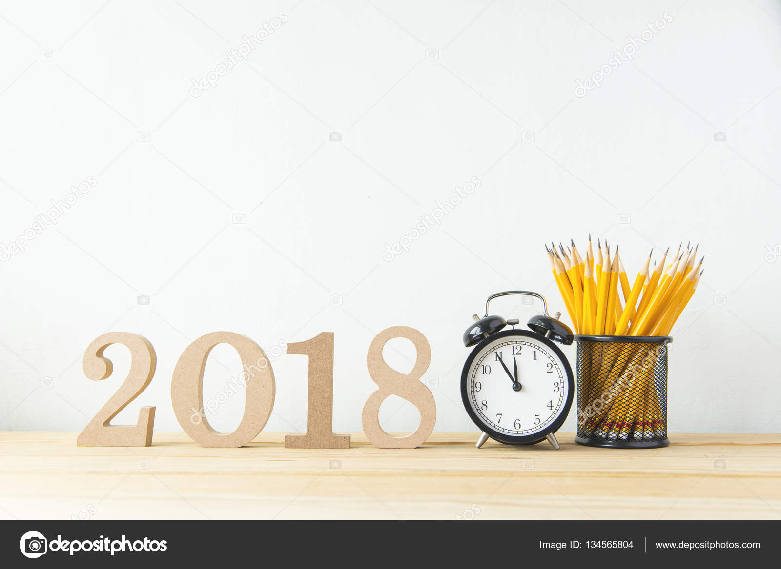 happy new year 2018 on a white background stock photo wayne0216