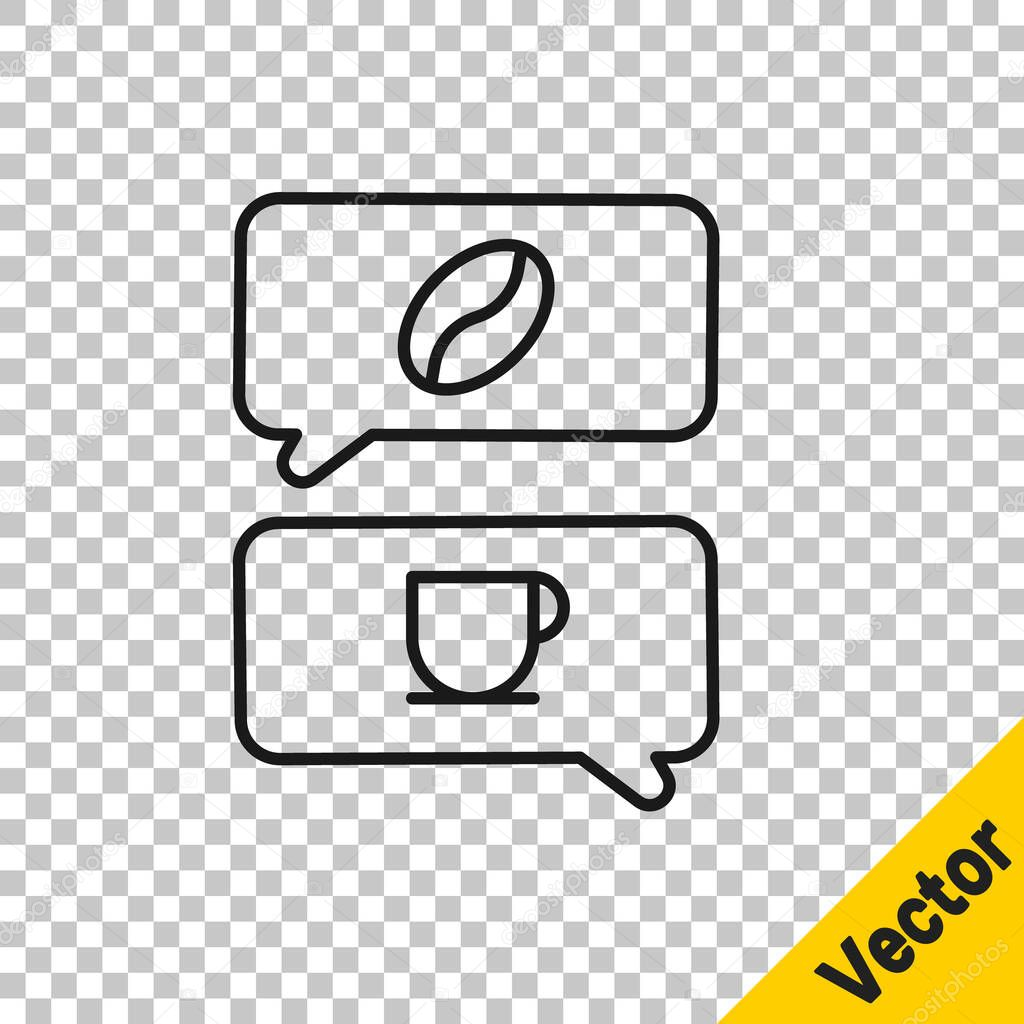 Coffee break line icon clock and cup Royalty Free Vector