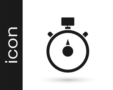 Grey Stopwatch icon isolated on white background. Time timer sign. Chronometer sign.  Vector Illustration