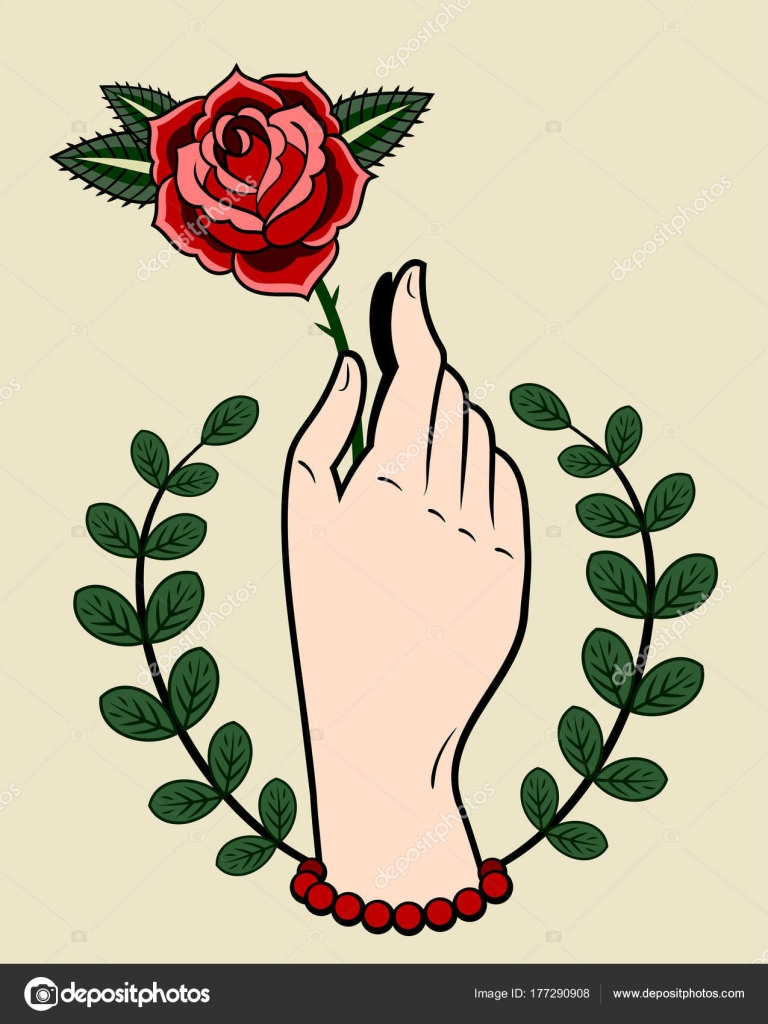 Drawings Hand Holding Rose Tattoo Hand Holding Rose Drawing