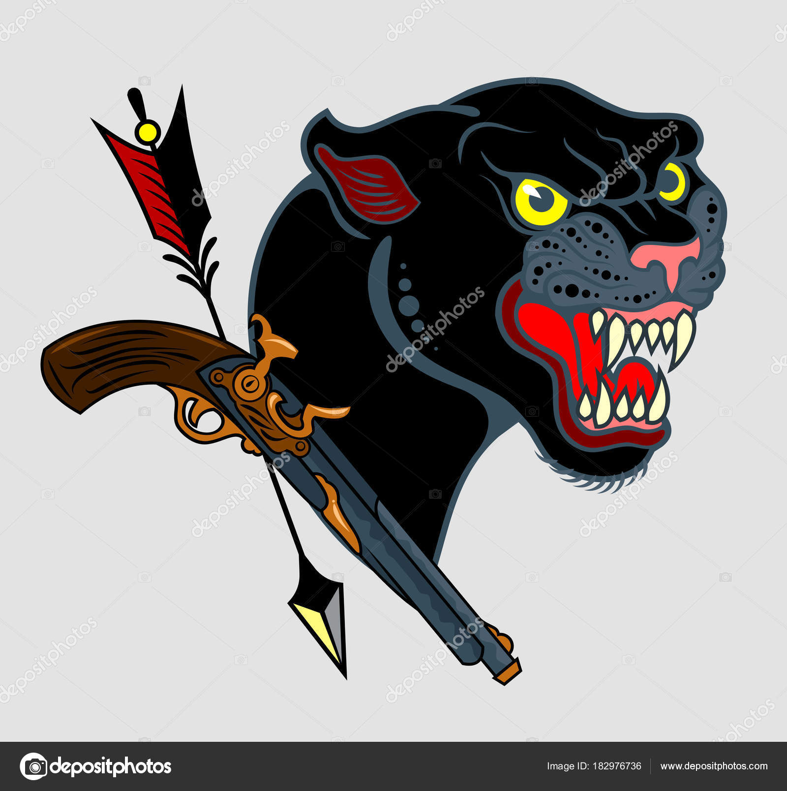 Old School Black Panther Lilac Black Panther Old School Style