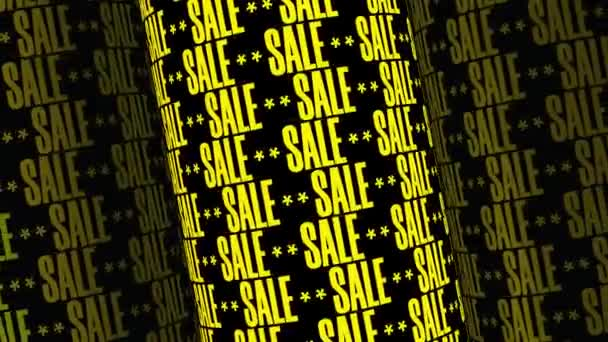 Seamless Loop Background With Text Message Sale, Yellow Letters