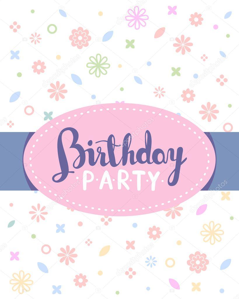 Vector colorful illustration birthday party template poster wit vector colorful illustration birthday party template poster wit vetores de stock stopboris Choice Image