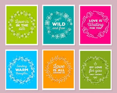 Vector collection of illustration of wonderful template with flo