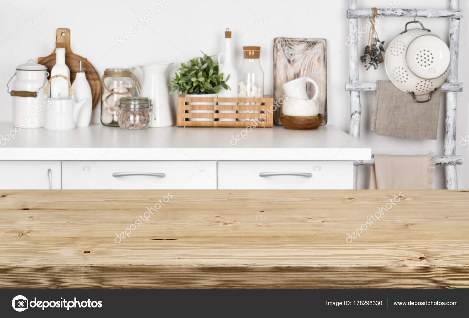 Table Texture Bois Brun Sur Une Image Floue Banc Cuisine