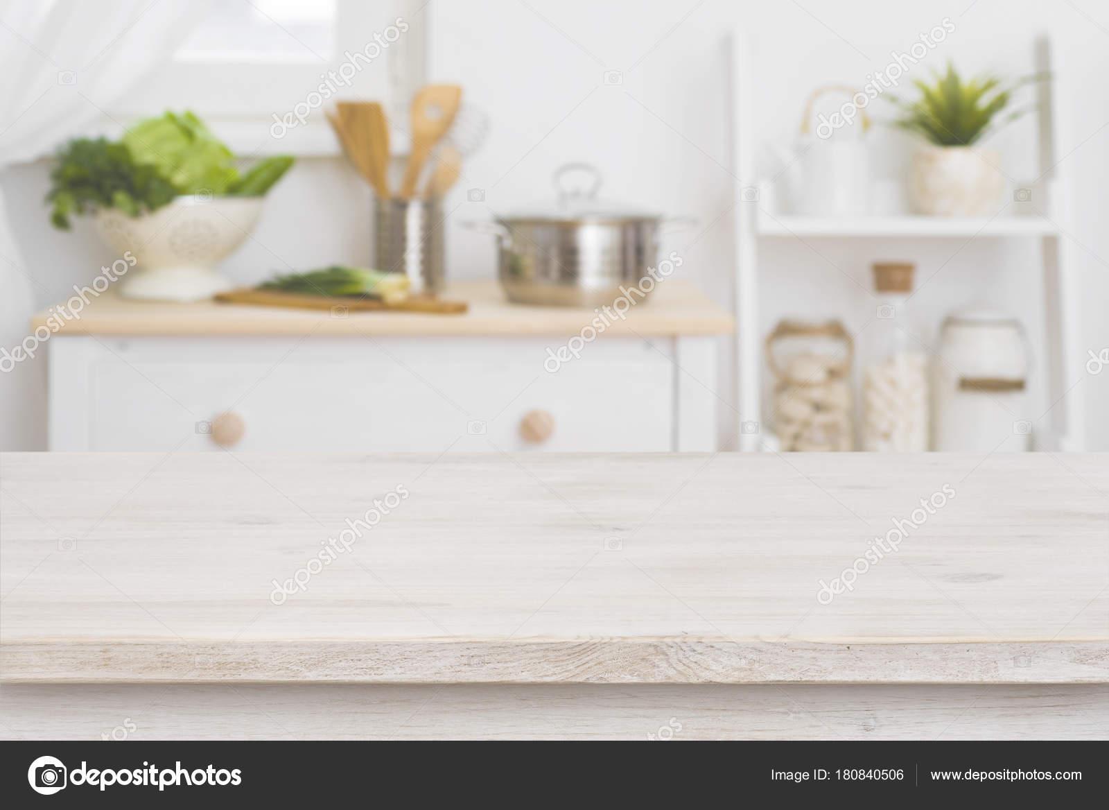 Table Top Defocused Kitchen Interior Background — Stock ...