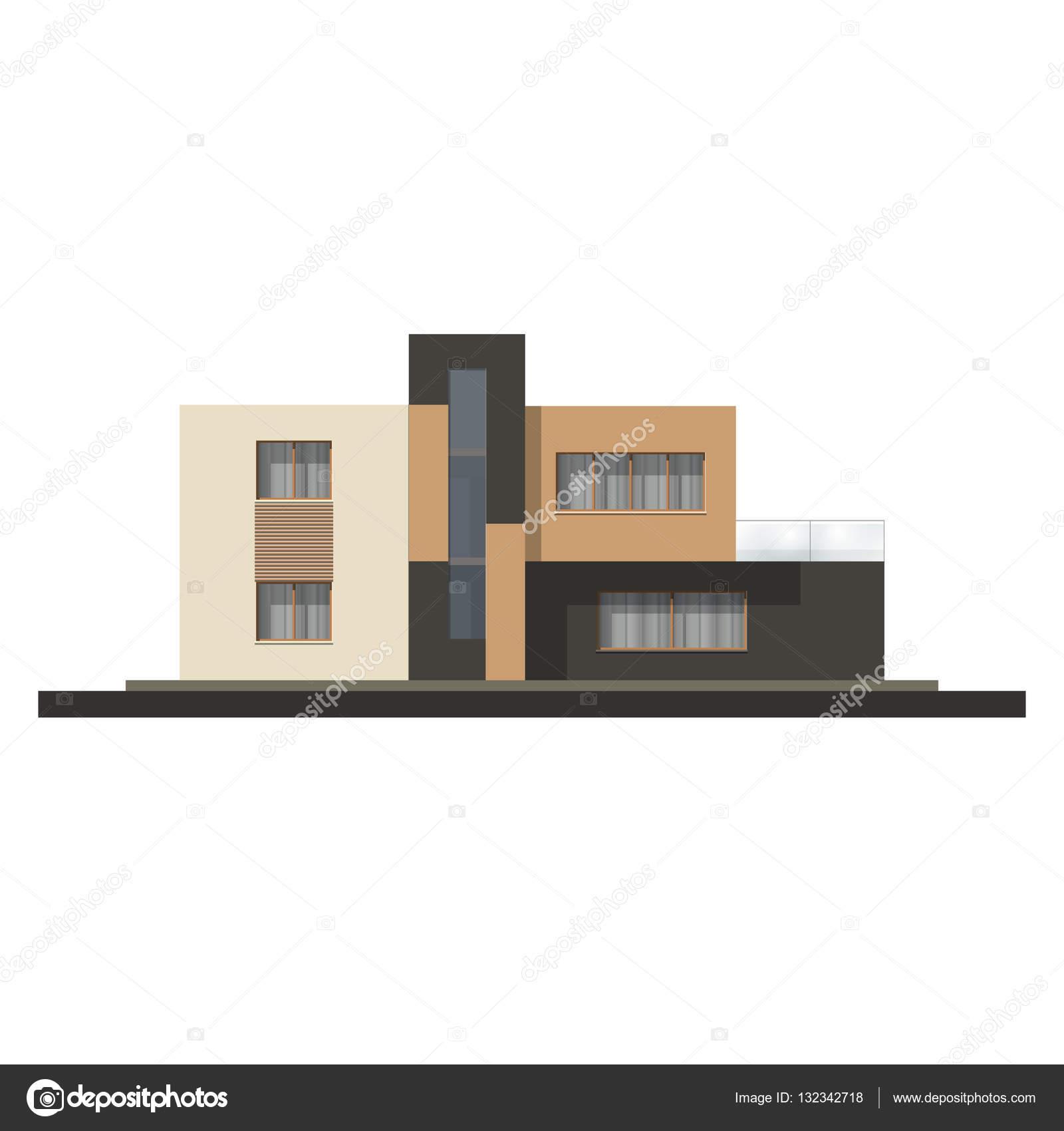 vector de alta fachada de la casa de tecnolog a casa