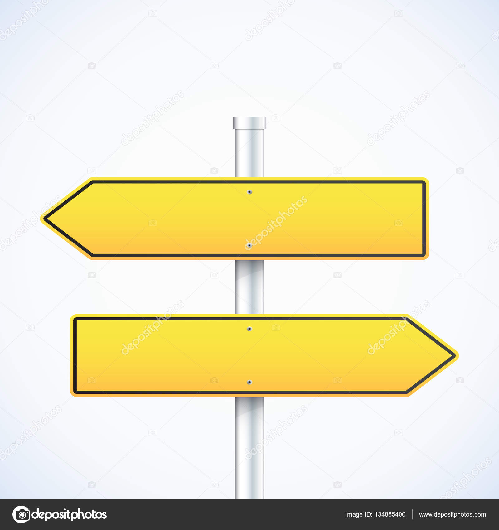 vector arrow road signs right and left arrows stock vector