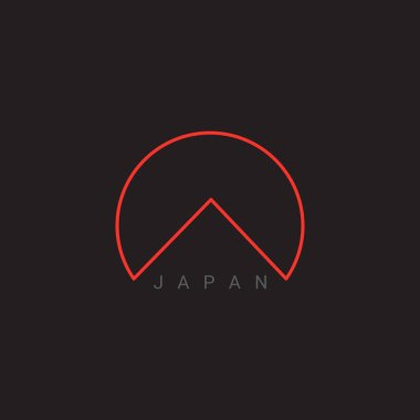 Vector Japan icon. Abstract Japan logo