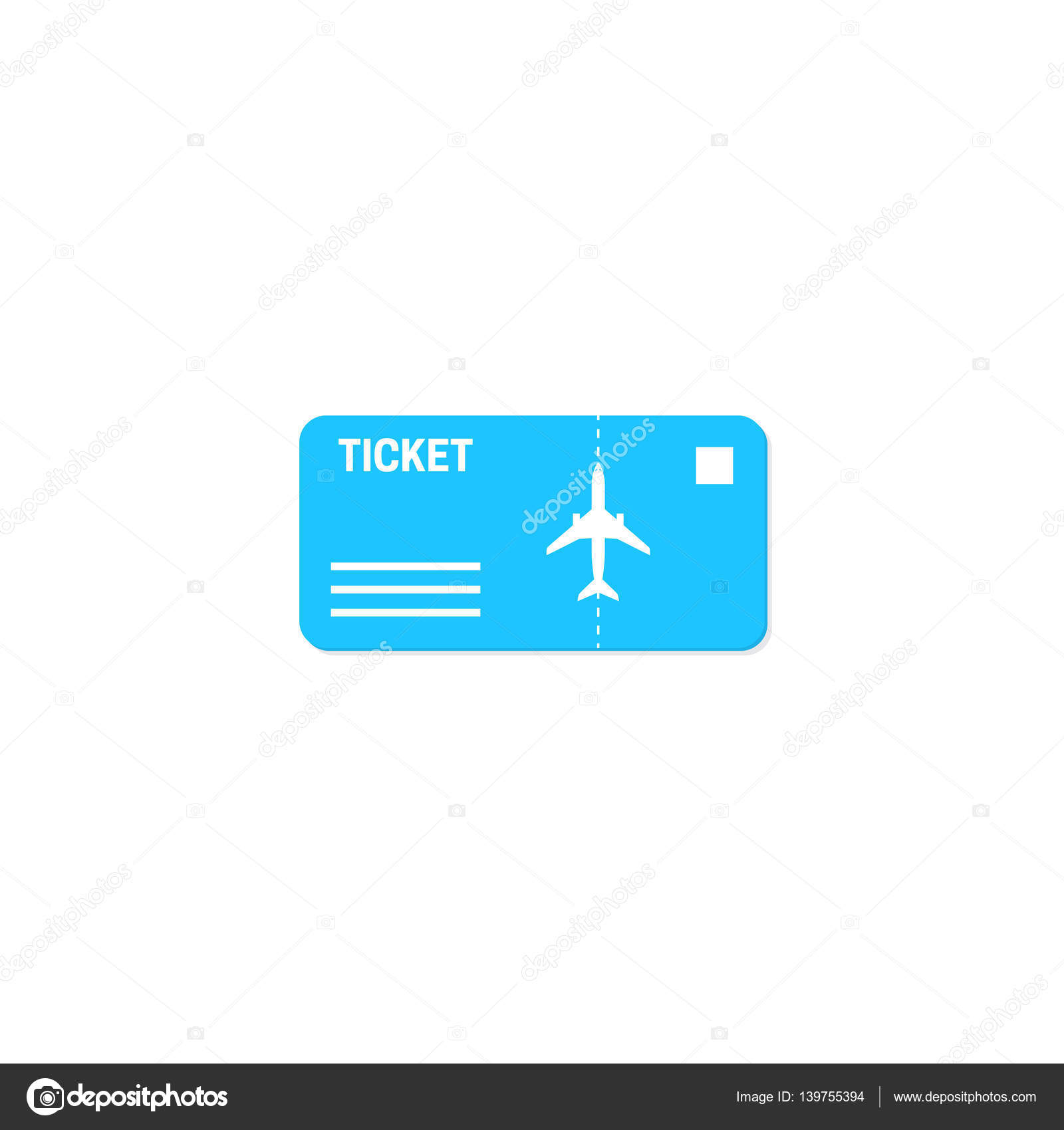 Vector Air Ticket Icon Stock