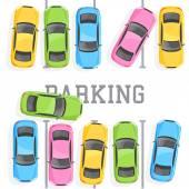 Pohled shora parkování