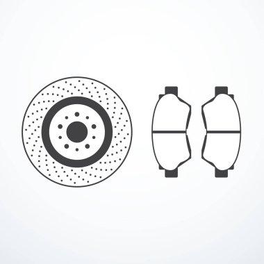 Brake disk and brake pads