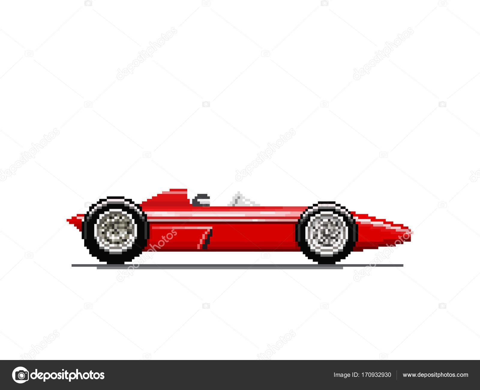 Pixel old race car — Stock Vector © freshwater #170932930