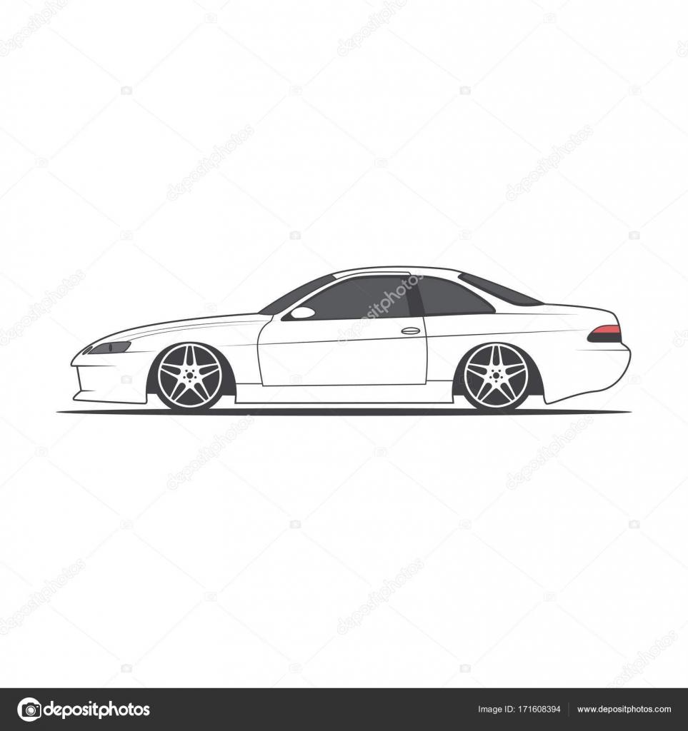 Vector Sport Car. Car Sketch. Side View U2014 Stock Vector