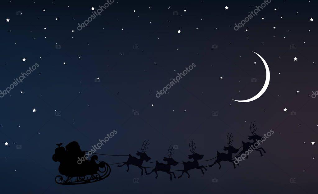 p re no l dans le ciel nocturne avec un croissant de lune et les toiles image vectorielle. Black Bedroom Furniture Sets. Home Design Ideas