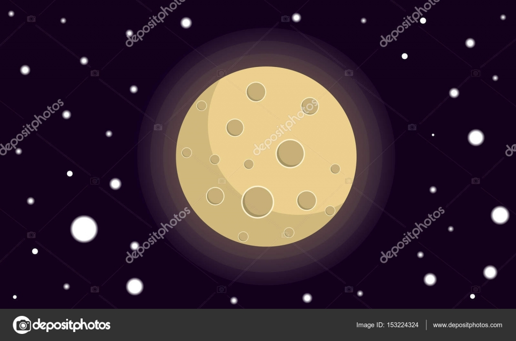 Imágenes Luna Llena Dibujo A Lapiz Pintado Luna Llena Vector De