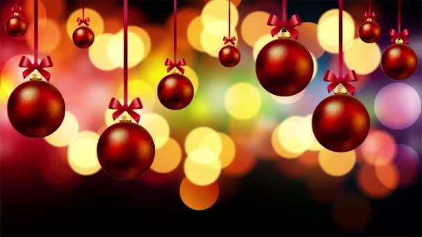 červené vánoční koule na pozadí bokeh