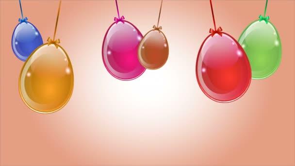 Appeso astratte uova colorate di Pasqua, illustrazione dei video arte