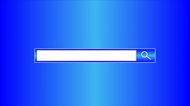 Vyhledávací řetězec v prohlížeči, vektorové umění ilustrace