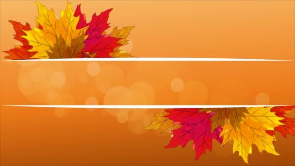 Őszi levelek, a fehér vonalak, vektoros illusztráció egy banner.